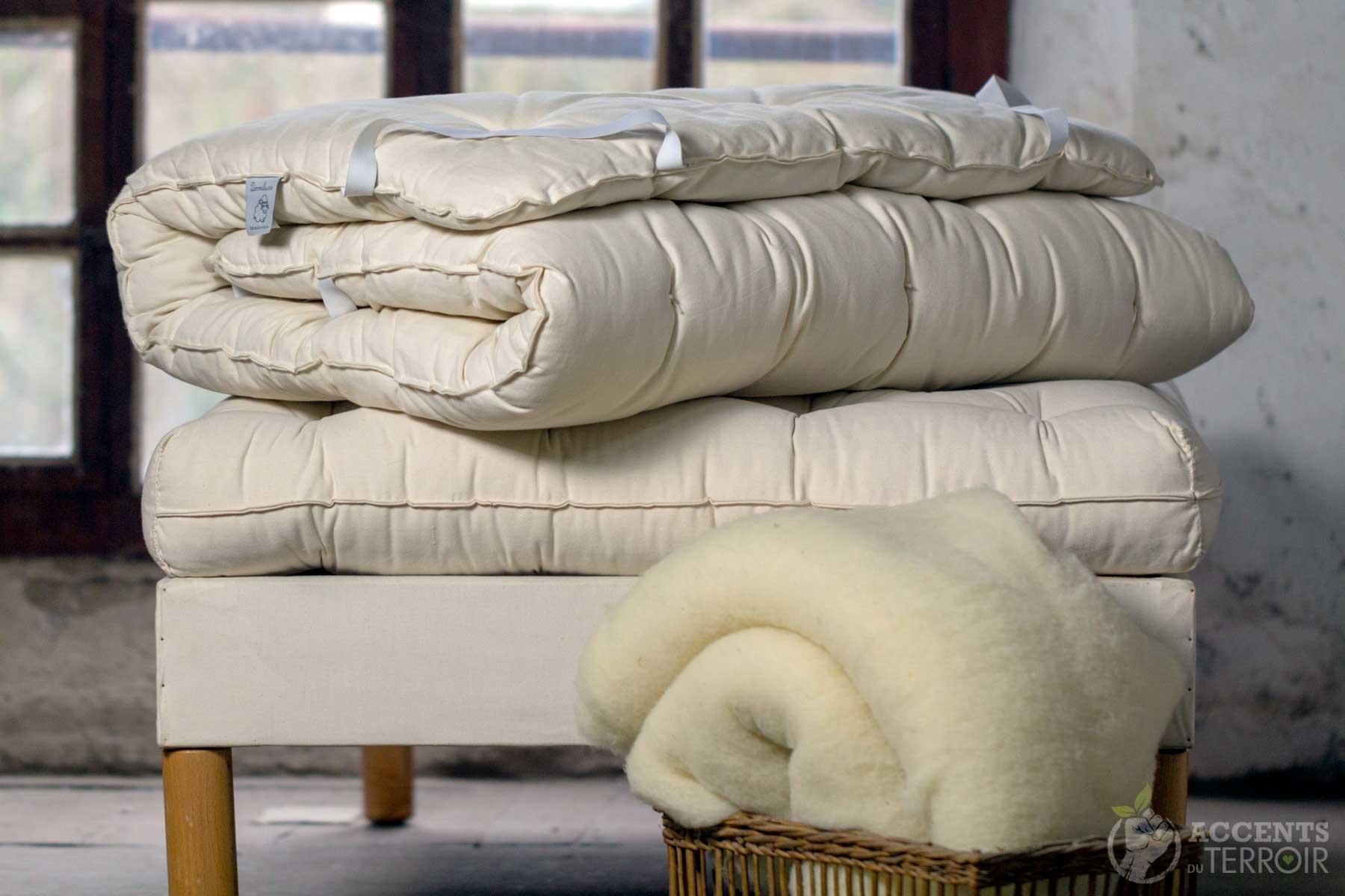couette laine fait main