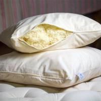 oreiller laine glissière