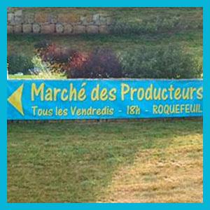 Marché des producteurs à Roquefeuil
